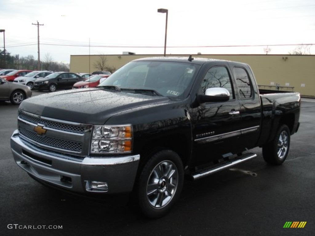 black 2012 chevrolet silverado 1500 lt extended cab 4x4 exterior photo 57005282. Black Bedroom Furniture Sets. Home Design Ideas