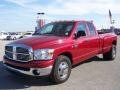 2008 Inferno Red Crystal Pearl Dodge Ram 3500 Big Horn Edition Quad Cab Dually  photo #7