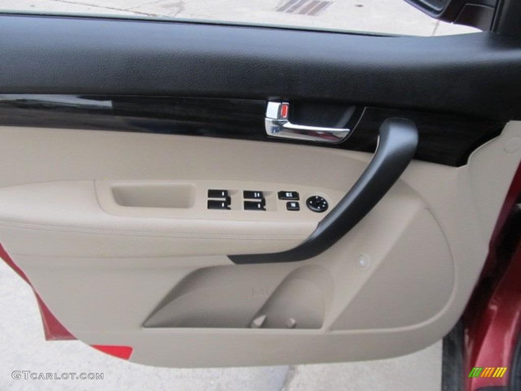 2011 Sorento LX AWD - Spicy Red / Beige photo #7