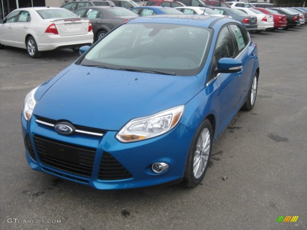 2012 focus sel 5 door blue candy metallic charcoal black leather ford focus 2012 light