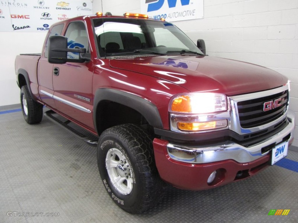 2007 Sierra 2500HD Classic SLE Extended Cab 4x4 - Sport Red Metallic / Ebony Black photo #1