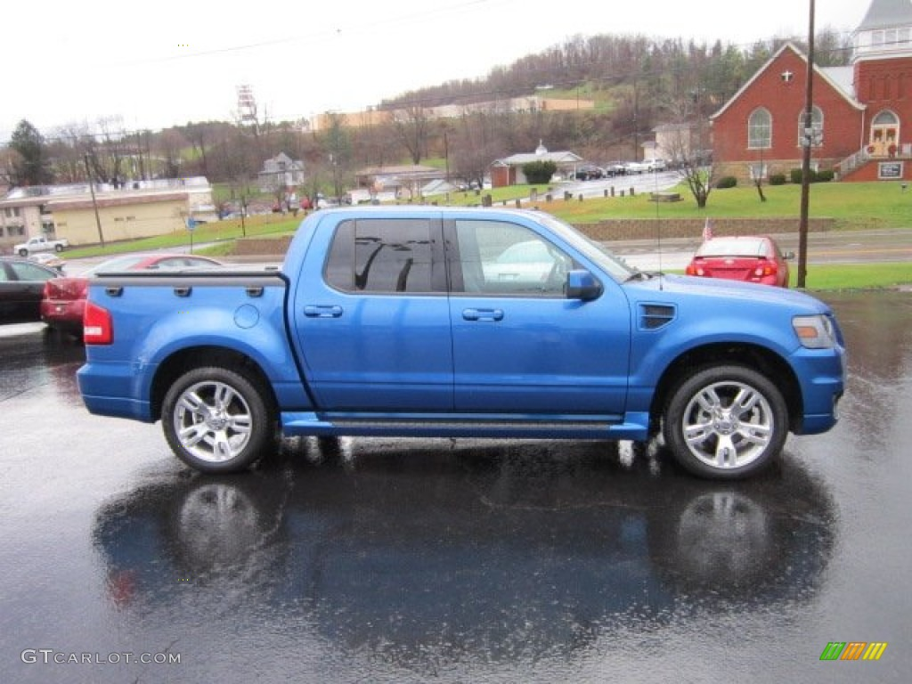 blue flame metallic  ford explorer sport trac adrenalin awd exterior photo