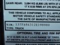 Info Tag of 2002 H1 Wagon