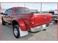 2007 Inferno Red Crystal Pearl Dodge Ram 3500 Laramie Mega Cab 4x4 Dually  photo #3