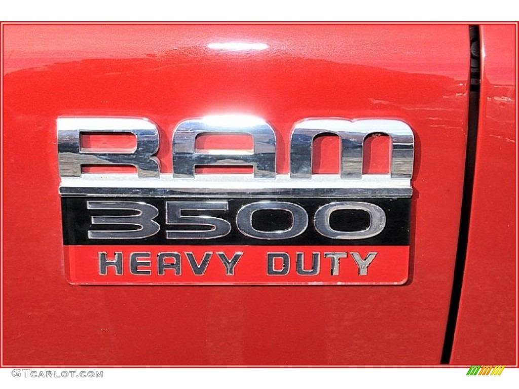 2007 Ram 3500 Laramie Mega Cab 4x4 Dually - Inferno Red Crystal Pearl / Medium Slate Gray photo #9