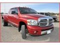 2007 Inferno Red Crystal Pearl Dodge Ram 3500 Laramie Mega Cab 4x4 Dually  photo #11