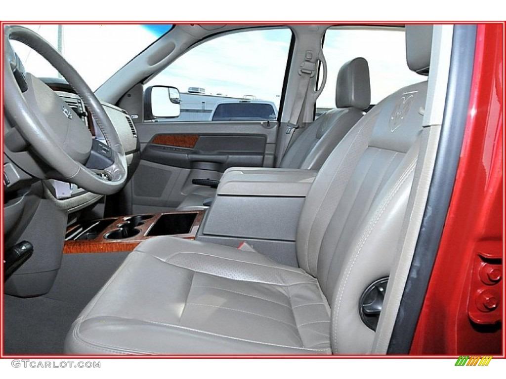 2007 Ram 3500 Laramie Mega Cab 4x4 Dually - Inferno Red Crystal Pearl / Medium Slate Gray photo #16