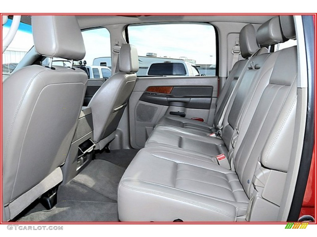 2007 Ram 3500 Laramie Mega Cab 4x4 Dually - Inferno Red Crystal Pearl / Medium Slate Gray photo #20