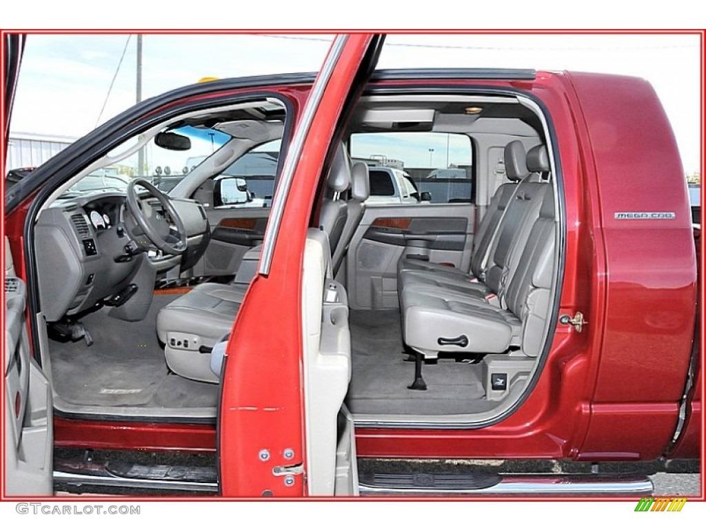 2007 Ram 3500 Laramie Mega Cab 4x4 Dually - Inferno Red Crystal Pearl / Medium Slate Gray photo #21