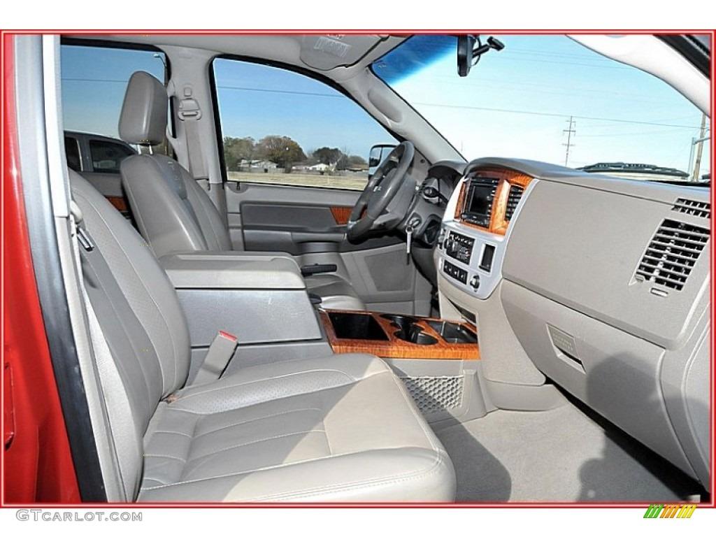 2007 Ram 3500 Laramie Mega Cab 4x4 Dually - Inferno Red Crystal Pearl / Medium Slate Gray photo #23