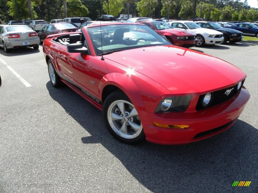 2007 Mustang GT Premium Convertible - Torch Red / Dark Charcoal photo #1