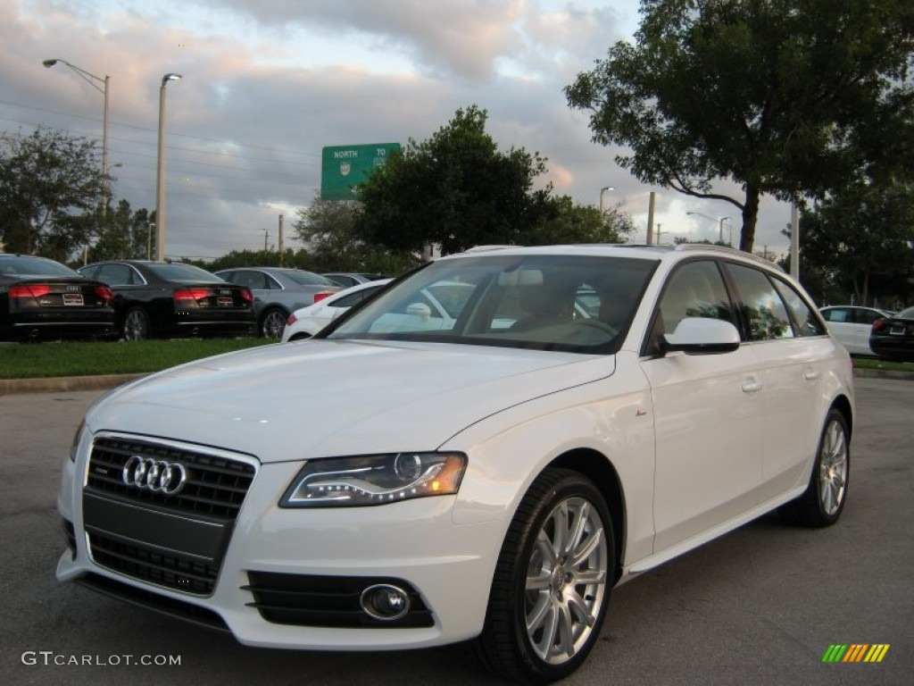 ibis white 2012 audi a4 2 0t quattro avant exterior photo 57073040. Black Bedroom Furniture Sets. Home Design Ideas