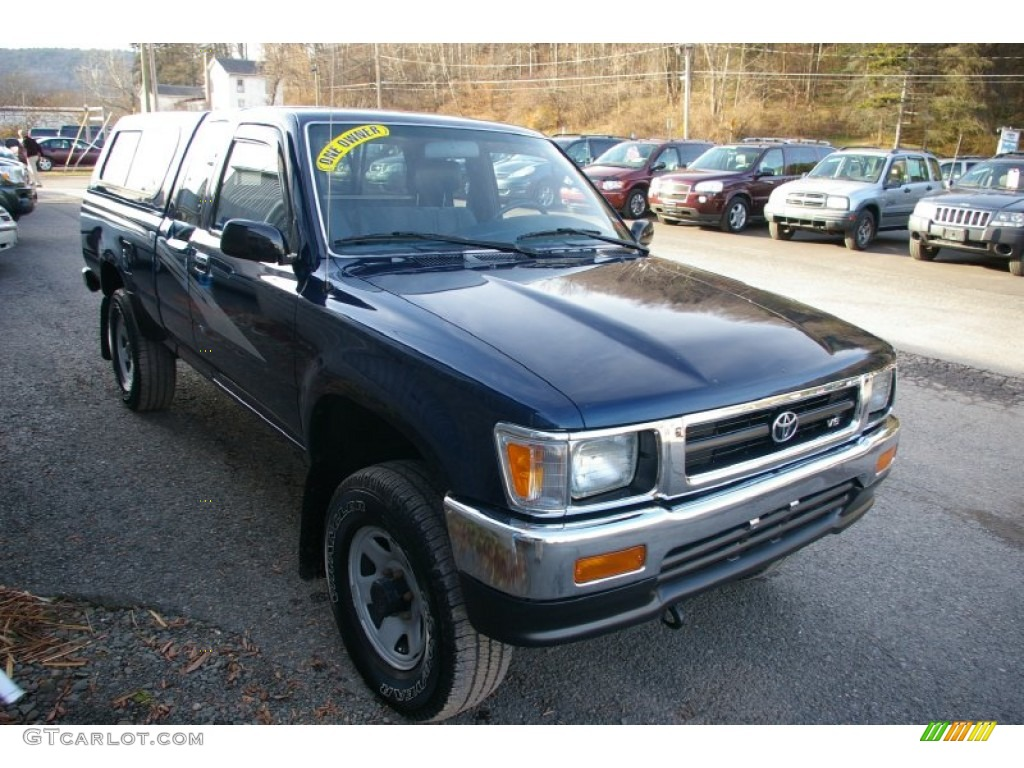 1993 blue pearl metallic toyota pickup deluxe v6 extended - 1993 toyota pickup interior parts ...