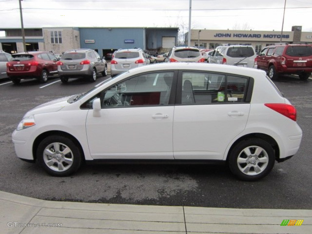 Fresh Powder White 2012 Nissan Versa 1 8 S Hatchback