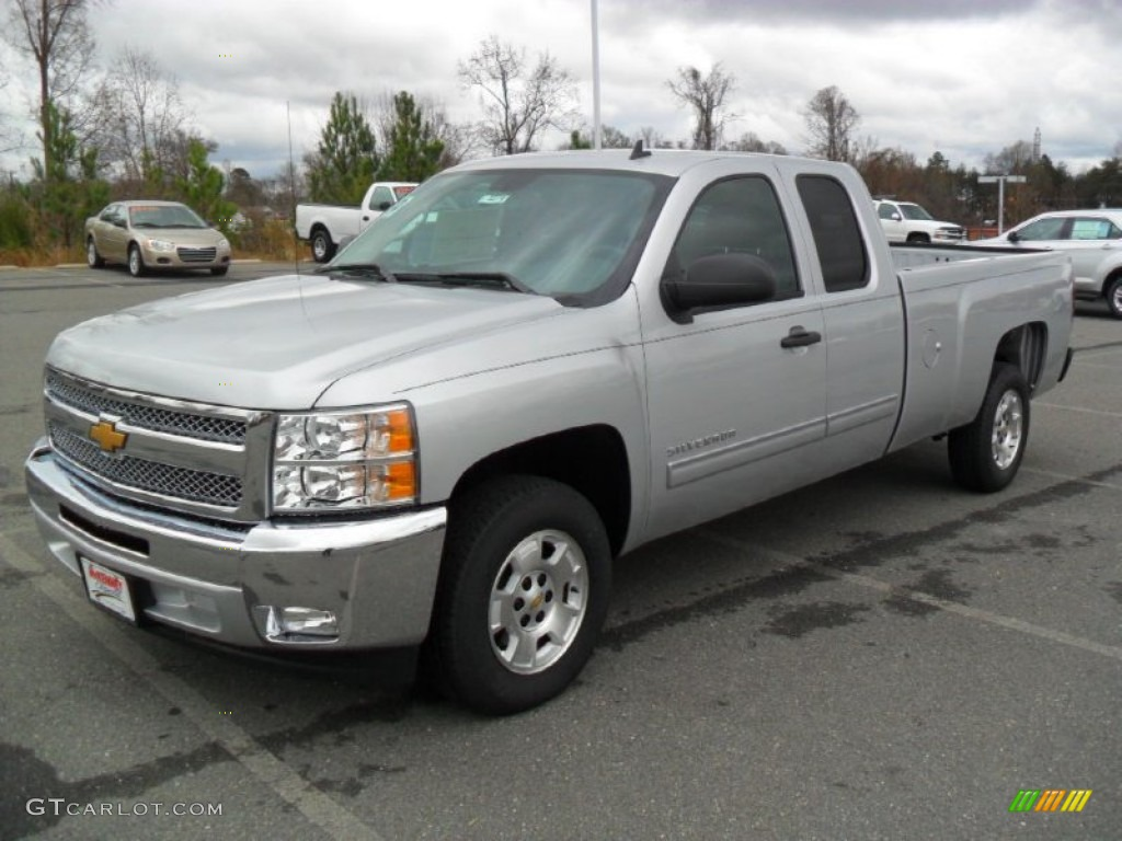 2012 Silverado 1500 LT Extended Cab - Silver Ice Metallic / Ebony photo #1