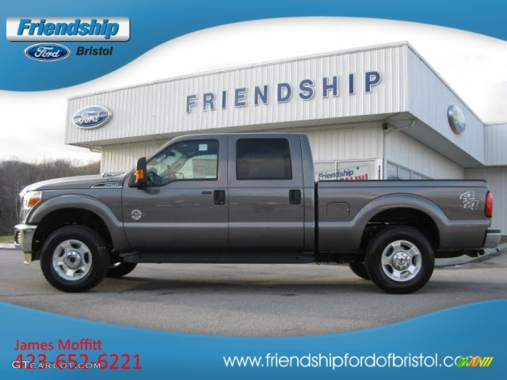 2012 F250 Super Duty XLT Crew Cab 4x4 - Sterling Grey Metallic / Steel photo #1