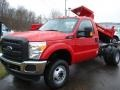 2012 Vermillion Red Ford F250 Super Duty XL Regular Cab 4x4 Chassis  photo #2