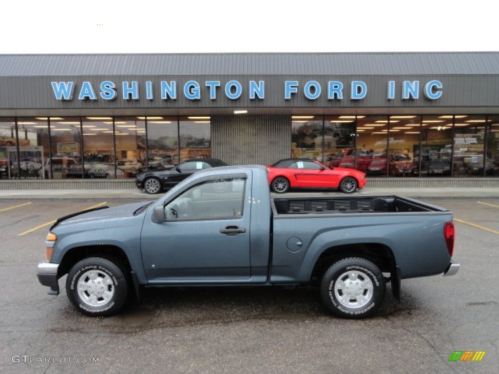 2007 Stealth Gray Metallic Gmc Canyon Sl Regular Cab