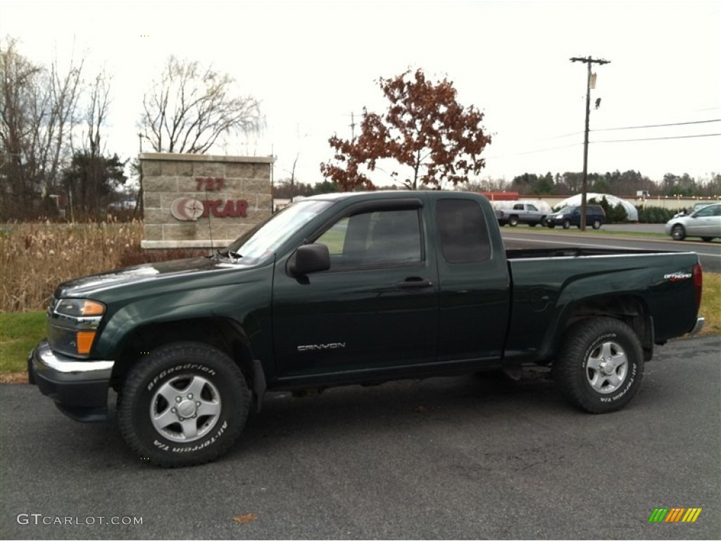 2004 polo green metallic gmc canyon sle extended cab 4x4 57095093 car color. Black Bedroom Furniture Sets. Home Design Ideas