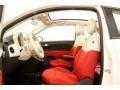 2012 500 c cabrio Pop Tessuto Rosso/Avorio (Red/Ivory) Interior
