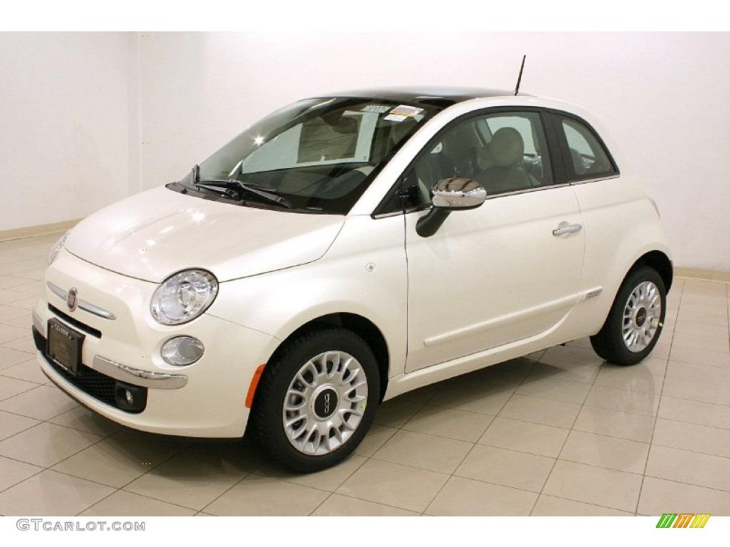 2012 Bianco Perla Pearl White Fiat 500 Lounge 57095608 Photo 3