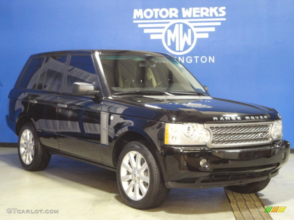 2007 Range Rover Supercharged - Java Black Pearl / Jet Black photo #1