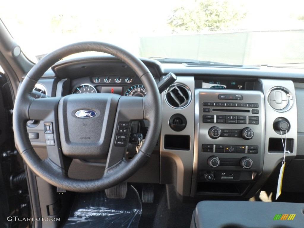2012 ford f150 xlt supercrew black dashboard photo 57171374 gtcarlot com
