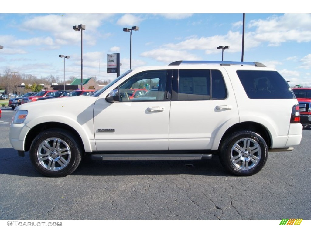 White Sand Tri Coat 2008 Ford Explorer Limited Exterior