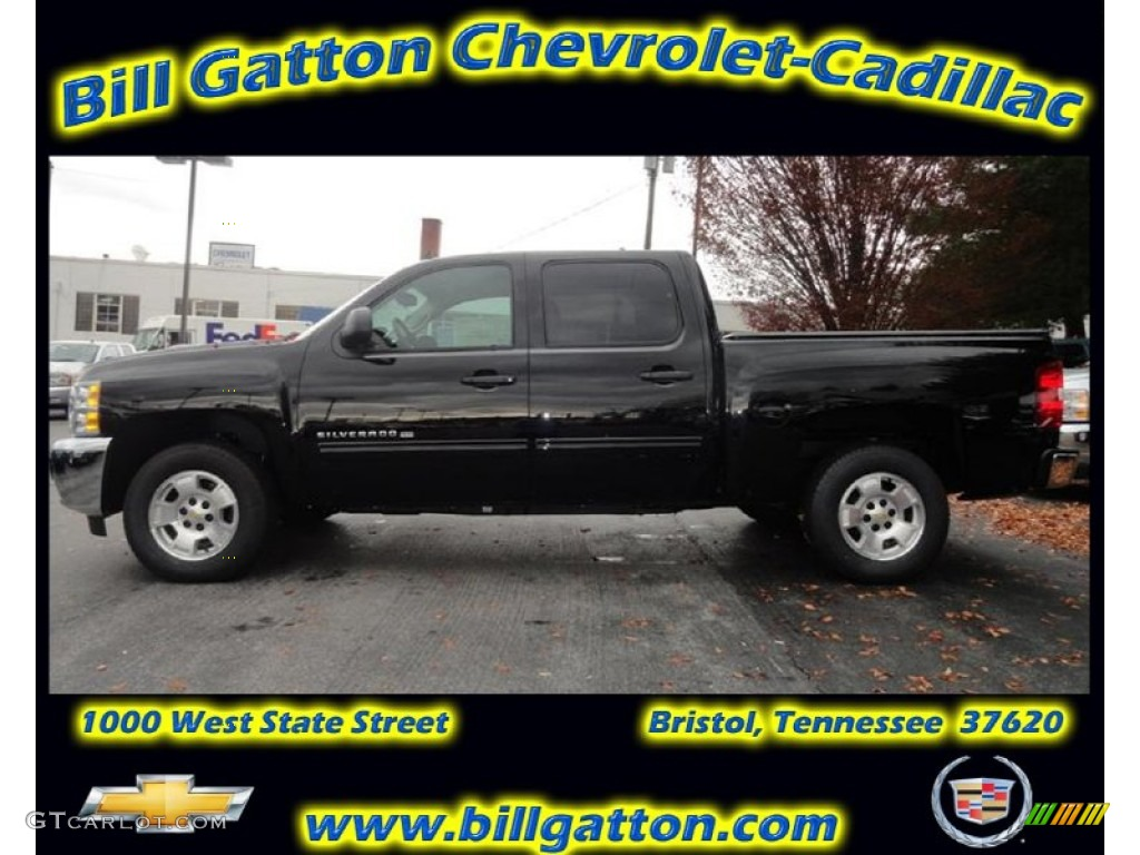 2012 Silverado 1500 LT Crew Cab - Black / Ebony photo #1