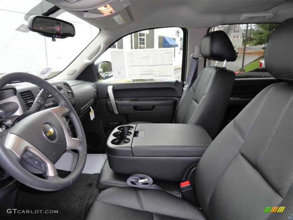 Ebony interior 2012 chevrolet silverado 2500hd lt crew cab 4x4 photo 57225454
