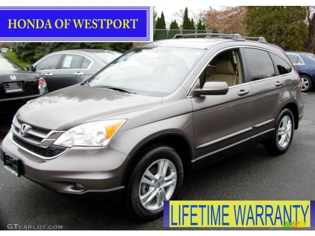 2011 CR-V EX-L 4WD - Urban Titanium Metallic / Ivory photo #1