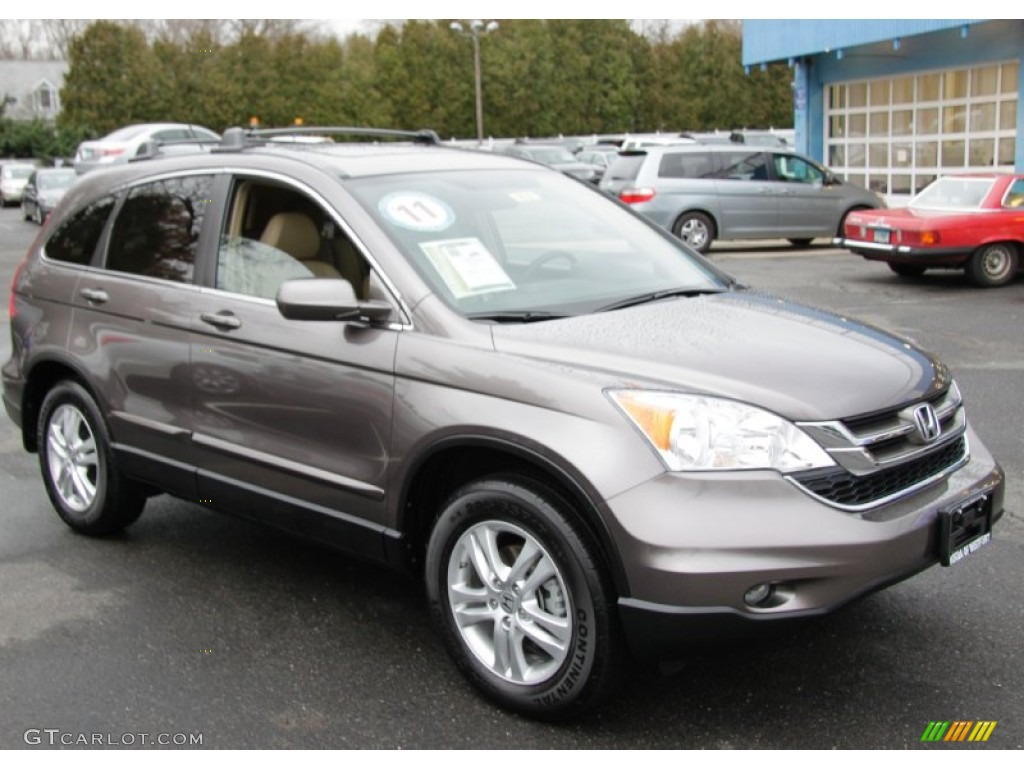 2011 CR-V EX-L 4WD - Urban Titanium Metallic / Ivory photo #3