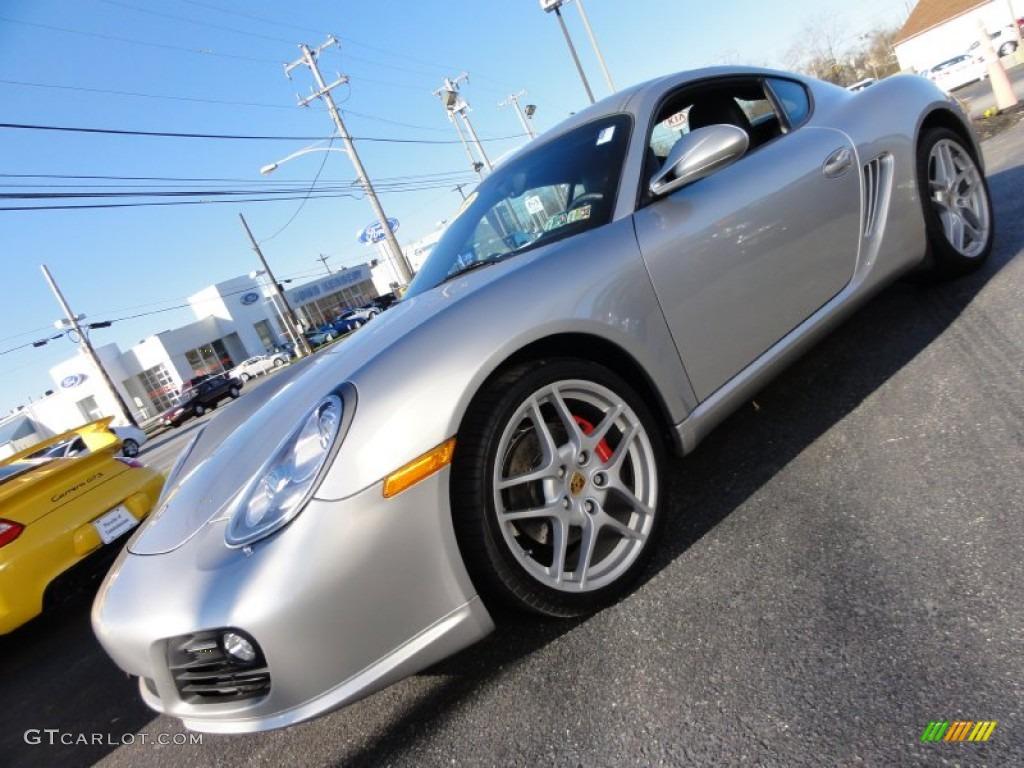 Arctic Silver Metallic Porsche Cayman