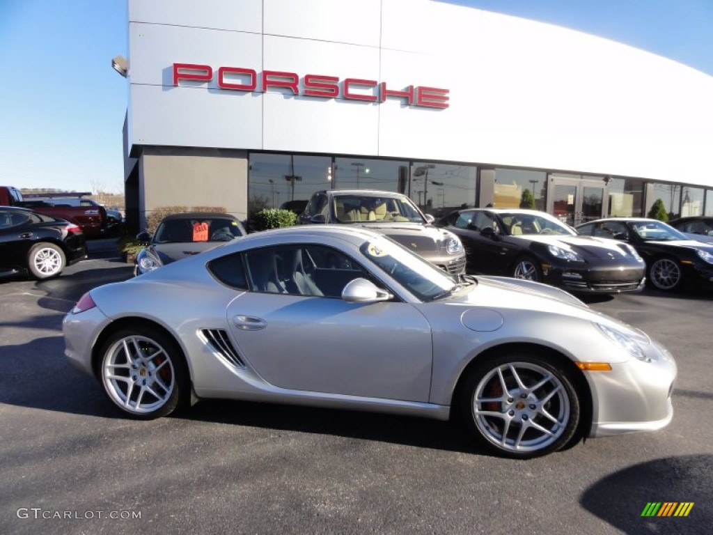 2009 Cayman S - Arctic Silver Metallic / Black photo #6