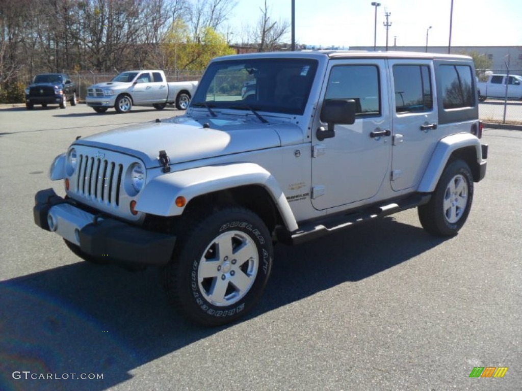 2012 bright silver metallic jeep wrangler unlimited sahara