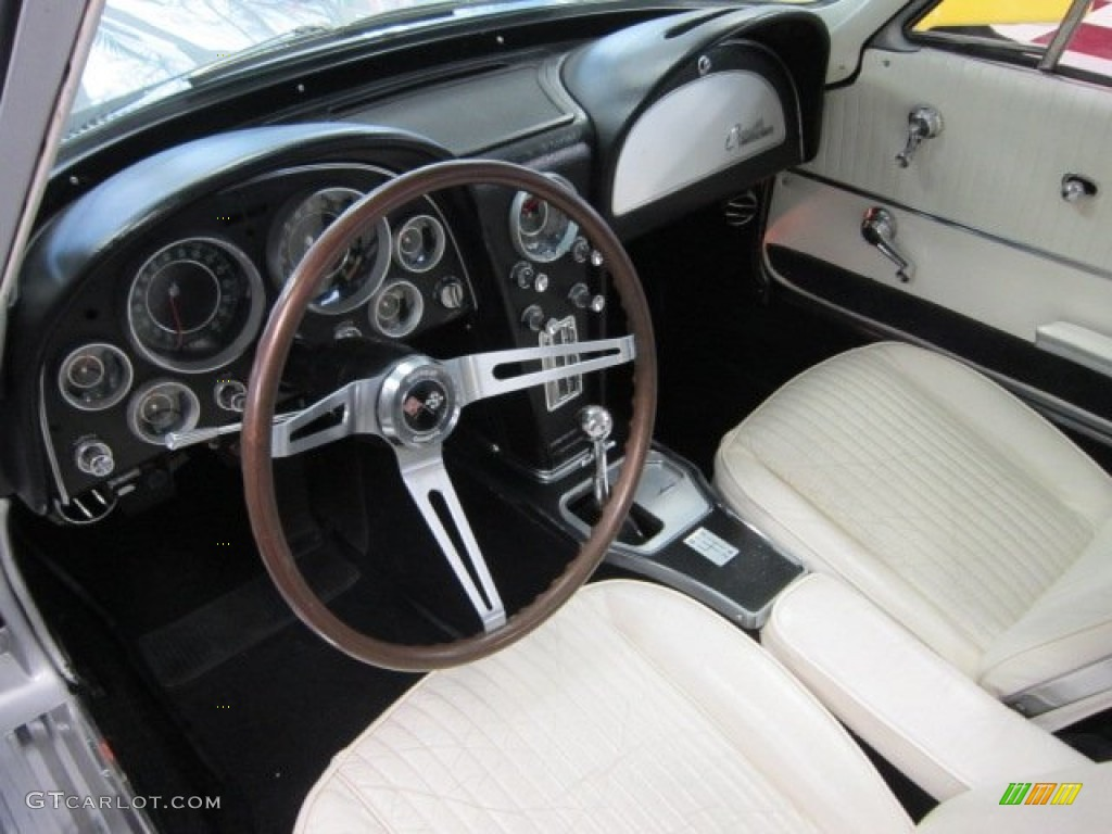 WhiteBlack Interior 1964 Chevrolet Corvette Sting Ray