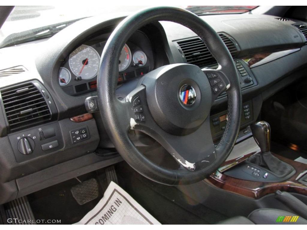 2005 bmw x5 4.8is black steering wheel photo #57262628   gtcarlot