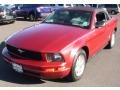 2007 Torch Red Ford Mustang V6 Deluxe Convertible  photo #1