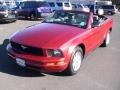 2007 Torch Red Ford Mustang V6 Deluxe Convertible  photo #10