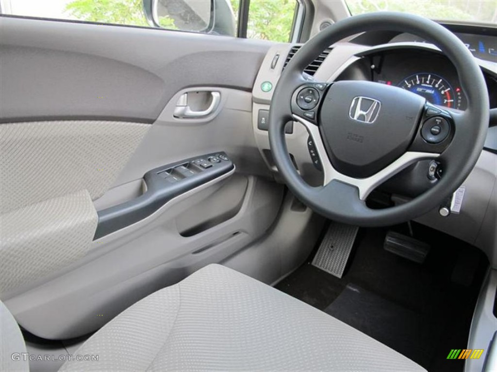 2012 honda civic hybrid sedan gray steering wheel photo. Black Bedroom Furniture Sets. Home Design Ideas