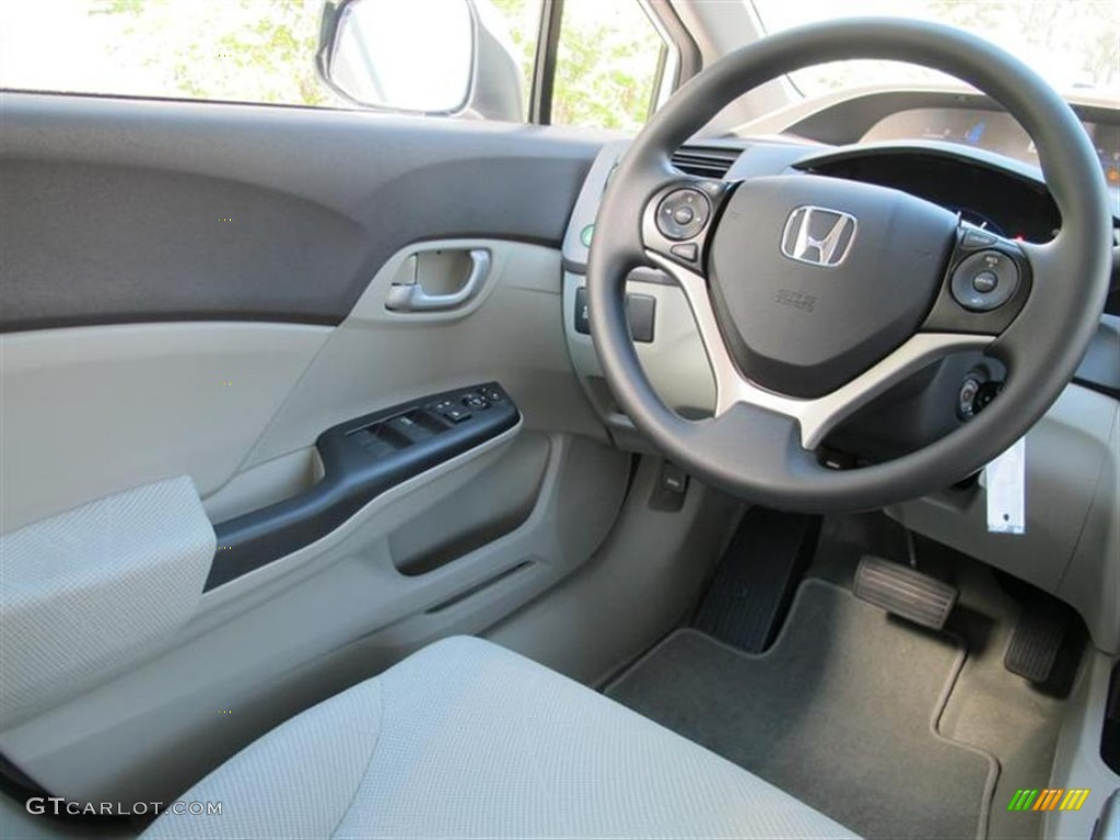 2012 honda civic hf sedan stone steering wheel photo. Black Bedroom Furniture Sets. Home Design Ideas