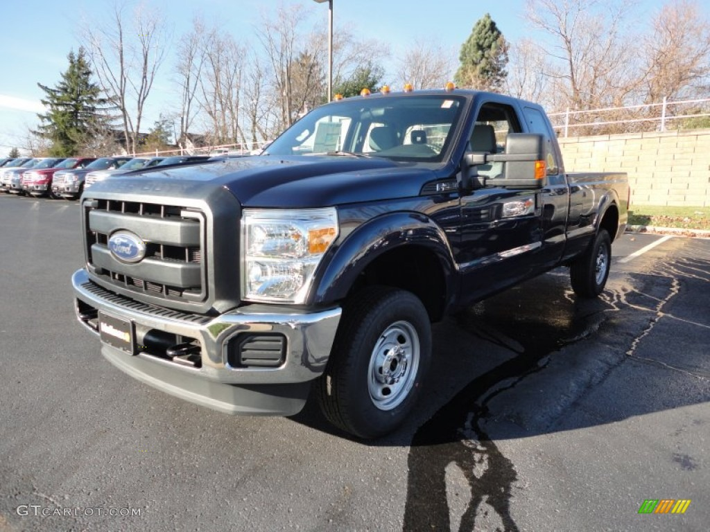 2012 f250 super duty xl supercab 4x4 dark blue pearl metallic steel photo