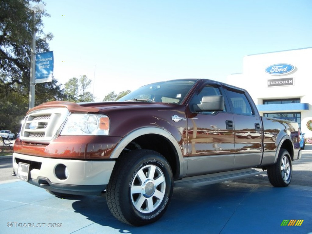 2006 dark copper metallic ford f150 king ranch supercrew 4x4 57271638 car. Black Bedroom Furniture Sets. Home Design Ideas