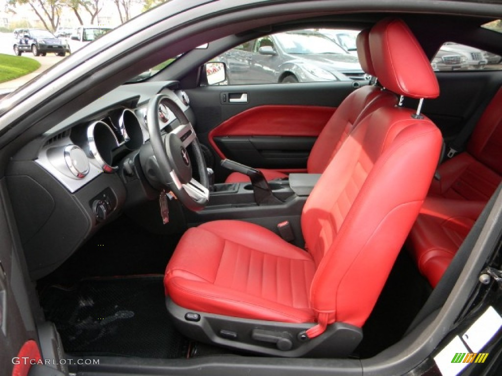 Red Leather Interior 2005 Ford Mustang Gt Premium Coupe Photo 57336000