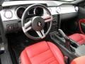 Red Leather Prime Interior Photo for 2005 Ford Mustang #57336009