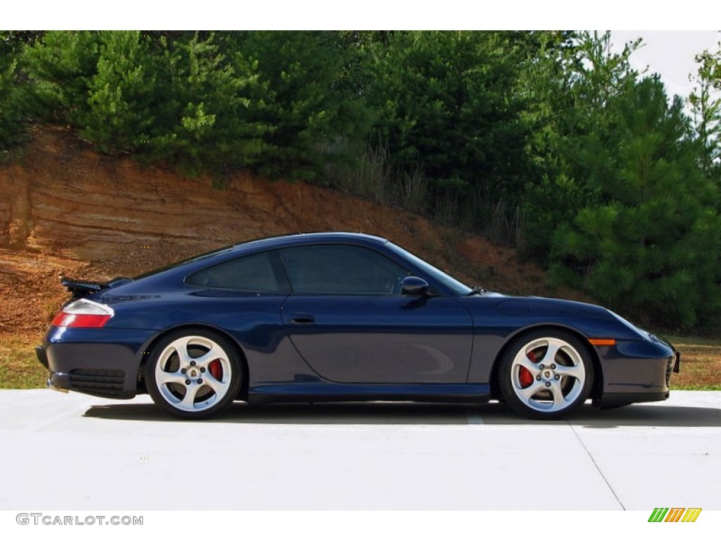 Lapis Blue Metallic 2003 Porsche 911 Carrera 4s Coupe