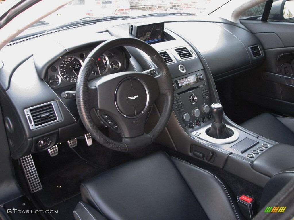 Obsidian Black Interior 2006 Aston Martin V8 Vantage Coupe