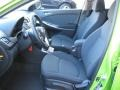 2012 Accent SE 5 Door Black Interior