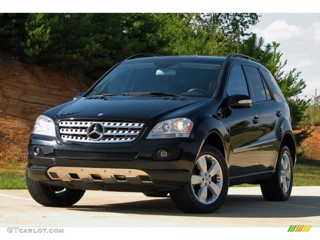 black 2007 mercedes benz ml 500 4matic exterior photo