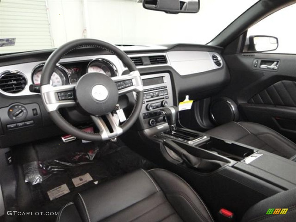 Charcoal Black Interior 2012 Ford Mustang Gt Premium Convertible Photo 57365099
